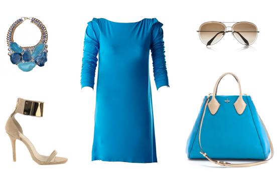 VENTIUNO DRESS turquoise