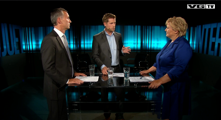Duell Jens Erna VGTV Mads Andersen