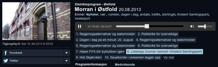 Radio Intervju Øsfold